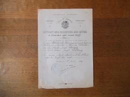 FOURMIES LE 8 JUIN 1897 STAINCQ ZELIE THERESE JOSEPH FILLE DE NICOLAS STAINCQ ET VICTOIRE LECLERCQ EST DCD LE 20/4/1897 - Documenti Storici