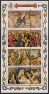 Aitutaki 1975 MNH Scott #120d Souvenir Sheet Of 12 Nativity Paintings Christmas - Aitutaki