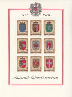 Austria 1976 MNH Scott #1042 Sheet Of 9 2s Coats Of Arms Of Austria's Provinces - 1945-.... 2ème République