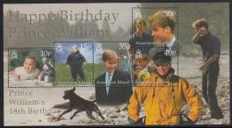 Ascension 2000 MNH Scott #759 Sheet Of 5 Prince William's 18th Birthday - Ascension (Ile De L')