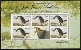 Antigua Barbuda 1985 MNH Scott #848 Sheet Of 5 $3 Double-crested Cormorant John J Audubon - Antigua Et Barbuda (1981-...)