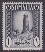 Somalia Scott 170 1950 1c Gray Black Tower Of Mnara, Mint Never Hinged - Somalia (AFIS)