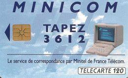 CARTE¤PUBLIC-F363B-120U-Gem B-05/93-36.12 MINICOM2-2e Logo-UTILISE-TBE - 1993