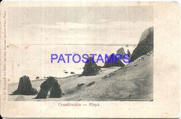 91800 CHILE TALCA CONSTITUCION PLAYA BEACH BREAK POSTAL POSTCARD - Chile