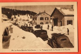 GBQ-25  Route Blanche Paris-Genève,Le Tabagnoz Entre Les Rousses Et La Faucille, TRES ANIME.Circ. Sous Enveloppe - Francia