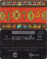 398/ Bulgaria; P44. Carpet, Chiprovski, CP 37BULA, Crossed 0 - Bulgaria