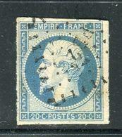 Superbe N° 14Af Bleu Laiteux - Cachet Ambulant PB2° - 1853-1860 Napoléon III.