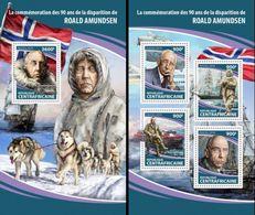Centrafrica 2018, Explorers, Roland Amundsen, 4val In BF+BF - Polarforscher & Promis