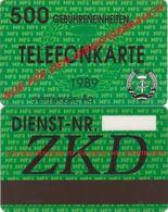 432/ Germany (ost); Green Card ZKD (Stasi), FAKE - Germania