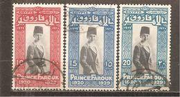 Egipto - Egypt. Nº Yvert  137-39 (A) (usado) (o) - Usados