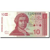 Billet, Croatie, 10 Dinara, 1991-1993, 1991-10-08, KM:18a, SPL - Croatie