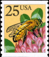 USA 1988 Honey Bee Coil Stamp Sc#2281 Post Nature Flower Insect - Post