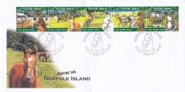 NORFOLK ISLAND 2003 Horses FDC - Ile Norfolk
