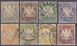 BAVIERA - BAYERN  - Lotto 8 Valori Obliterati: Yvert 58, 60, 62, 64, 66, 67, 68 E 70. - Bavière
