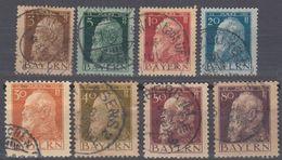 BAVIERA - BAYERN  - Lotto 8 Valori Obliterati: Yvert 76, 77, 78, 79, 81, 82, 83 E 85. - Bavière