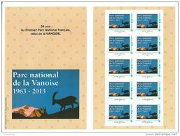 50 Ans Du Parc National De La Vanoise, Bouquetin, Grande Casse, 2ème Collector De 10 Timbramoi - Environment & Climate Protection