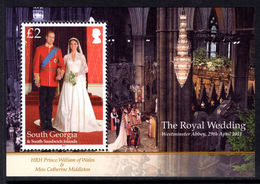South Georgia 2011 Royal Wedding Souvenir Sheet Unmounted Mint. - South Georgia