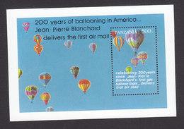 Tanzania, Scott #1083, Mint Never Hinged, Hot Air Balloons, Issued 1994 - Tanzania (1964-...)