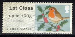 GB 2012 QE2 1st Up To 100gms Post & Go Christmas Robin ( M932 ) - Great Britain
