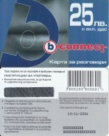 BULGARIA - Lips, B Connect Prepaid Card 25 Leva, Tirage 26400, Exp.date 19/11/06, Sample - Bulgaria
