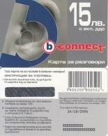BULGARIA - Ear, B Connect Prepaid Card 15 Leva, Exp.date 26/10/06, Sample - Bulgaria