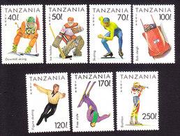 Tanzania, Scott #1201-1207, Mint Hinged, Winter Olympics, Issued 1994 - Tanzania (1964-...)