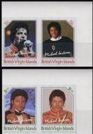 BR.VIRGIN ISLANDS 1985 Michail Jackson 55c+$1.50. CORNER IMPERF.SET:2 UNISSUED-officially Planned  [non Dentelé] - Britse Maagdeneilanden