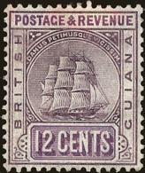 British Guiana Scott #165, 1905, Hinged - British Guiana (...-1966)