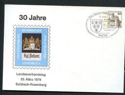 Sost Wappen Sulzbach-Rosenberg 1979 Auf Bund PU114 D2/021 Privat-Umschlag POSTHAUSSCHILD BAYERN - Post