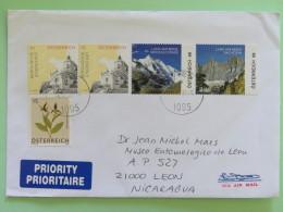 Austria 2016 Cover To Nicaragua - Mountain Flowers Church - 1945-.... 2a Repubblica