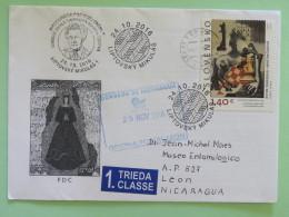 Slovakia 2016 FDC Cover To Nicaragua - Painting Horse Chess Game Simerova - Slovakia