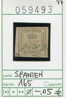Spanien - Spain - Espana - Espagne - Michel 165 - Oo Oblit. Used Gebruikt - 1875-1882 Königreich: Alphonse XII.