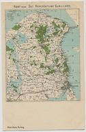Map Kort Over Det Nordostlige Sjaelland.  Stenders - Denmark
