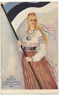VIII Eesti Laulupidu 1923 Postally Used To Santa Clara Cuba - Estonie