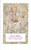 Illustration Alfons Mucha - Otakar Rehor, Inspektor Banky, Slavia - Horni Pocernice - Carte Timbrée Non Circulée - Mucha, Alphonse