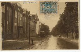 Tallinn Reval Real Photo Tram P. Used To Cuba Registered Postcard - Estonie