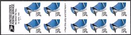 US  1996   Sc#3048a 20c Blue Jays Booklet Of 10  Face Value $2 - Booklets