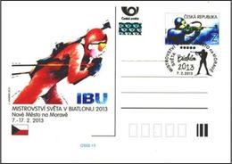 Czech Republic (13-02) World Championship Biathlon 2013 - Postcard - Timbres
