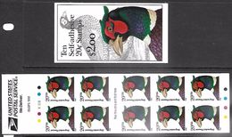 US  1998   Sc#3050a  Complete Booklet Of 10 20c Pheasantss   MNH**  Face $2 - Booklets