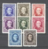 Slovakia 1939,Andrej Hlinka,Sc 26-33,VF MNH** (MB-1) - Slovakia