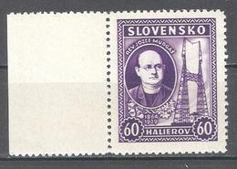 Slovakia 1939,Rev.Josef Murgas,Sc 38,VF MNH** (MB-1) - Slovakia