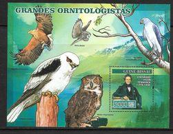 O) 2008 GUINEA BISSAU, ORNITHOLOGIST-ZOOLOGIST COENRAAD JACOB, BIRD - AQUILA CHRYSAETOS-STRIX ALUCO-ACCIPITER ELANUS-BUB - Guinea-Bissau