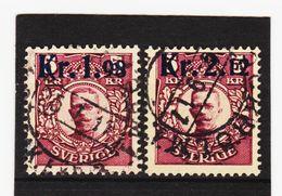 AUA494 SCHWEDEN 1917 Michl 107/08 Gebraucht / Gestempelt ZÄHNUNG Und STEMPEL SIEHE ABBILDUNG - Schweden