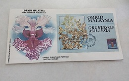 Malaysia FDC Orchids Of Malaysia 17/2/1994 - Malaysia (1964-...)