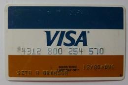 USA - Credit Card - VISA Personalised With Photo - Exp 02/80 - Used - R - Geldkarten (Ablauf Min. 10 Jahre)
