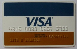 USA - Credit Card - VISA - Personalised With Photo - Exp 12/86 - Used - R - Cartes De Crédit (expiration Min. 10 Ans)