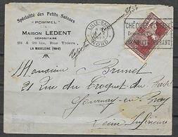 FRANCE 212 Expo 1925 Sur Lettre De Lille Vers Gournay En Bray. Petits Suisses . - France