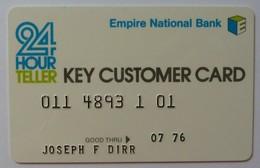 USA - Early ATM Card - Empire National Bank - Exp 07/76 - Used - R - Cartes De Crédit (expiration Min. 10 Ans)