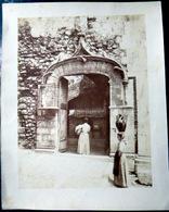 ITALIE TAORMINA 4 PHOTOS DE CRUPI VERS 1900 VUES GENERALES PORTE RUINES  24 X 20 CM ORIGINALES - Fotos