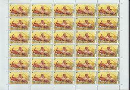 BUZIN / RD CONGO 2002 / FEUILLE COMPLETE DENTELEE / SERIE LIONS / COB 2094 - 1985-.. Oiseaux (Buzin)